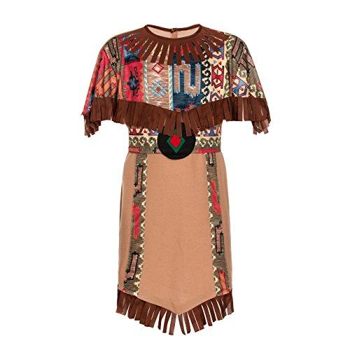 Kostümplanet® Indianerin-Kostüm Kinder Indianer-Kostüm Mädchen Größe 140-152