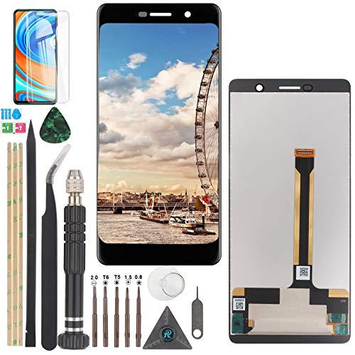 YWL-OU Reemplazo de Pantalla para Nokia 7 Plus LCD Display Digitalizador de Pantalla táctil +con un Conjunto de Herramientas (Negro)