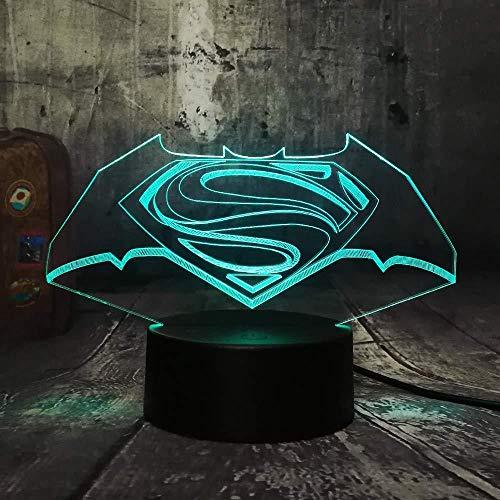 3D nachtlampje bedlampje driedimensionale folie tafel schrijftafel flitser kinderen geschenk vakantie geschenk sfeerlamp