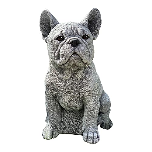 French Bulldog Statue Garden Decor Dachshund Statue Garden Decor Resin Crafts Dog Memorial Dog Figurines,Table Centerpiece Gift for Dog Lovers, Dog Statues for The Home, Patio, Lawn, Outdoors