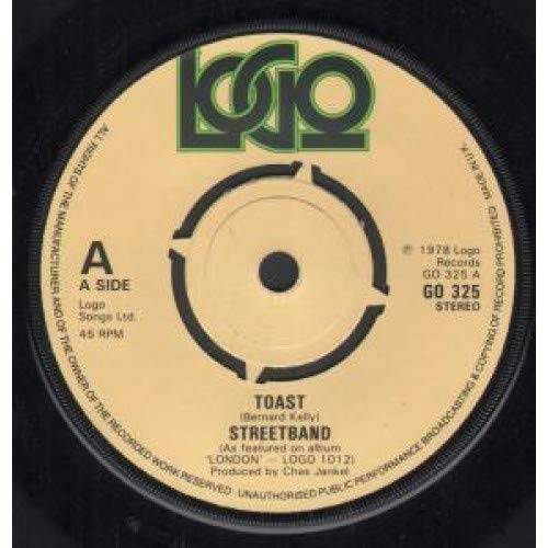 TOAST 7 INCH (7' VINYL 45) UK LOGO 1978