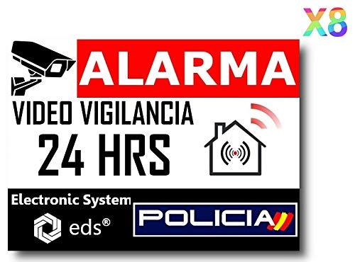 Egero - Pegatinas disuasorias Video Vigilancia Alarma Polici