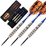 CUESOUL 28 Grams Tungsten Steel Tip Darts Set 95% Tungsten-28 Grams Tungsten Barrel