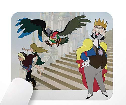 The King and The Mockingbird, tappetino per mouse antiscivolo a base di gomma, 24 x 20 cm
