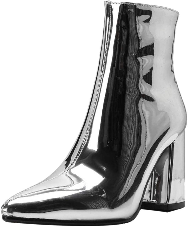 Kaizi Karzi Women High Heel Ankle Boots Zipper Party shoes