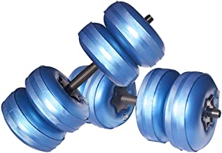 Travel Weights Water Filled Dumbbells Set for Man & Women, Adjustable Free Water Dumbbells Up to 22~45Lbs for Exercise Fitness Weightlifting Training.