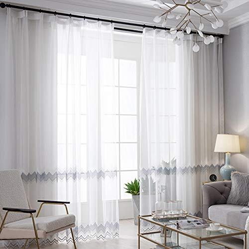 Vorhang Einfache Balkontrennwand Schlafzimmer Raumhohe Fenster Moderne Lichtdurchlässige Atmungsaktive Staubdichte Beschattung Su Yue Weißes Garn