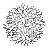 Kaloogo® Obstschale/Brotkorb/Dekoschale aus Metall 42cm – Silber - 2