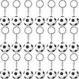 30 Pack Soccer Keychains Soccer Stress Ball Sports Ball Keychains Soccer Key Chain for Boys School Carnival Reward, Party Bag Gift Fillers (Soccer)