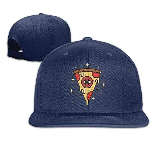 IMERIOi Pizza Eye Classic Falt Hut Verstellbare Baseballkappe Navy