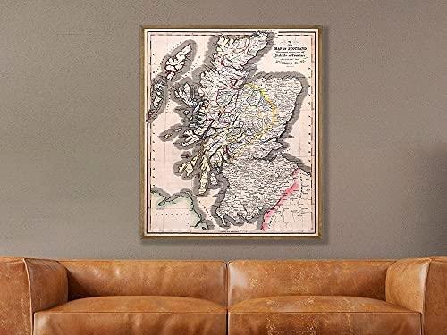 MG global Mapa del clan de Escocia, mapa histórico de clanes escoceses, clanes de Escocia, arte de la pared, regalos de Escocia, arte de Escocia, mapa de clanes sin marco