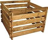 Gartenwelt Riegelsberger Holzkomposter Lärche, 120x120xH60 cm mit Holz-Stecksystem Komposter Komposte Steckkomposter Kompostsilo