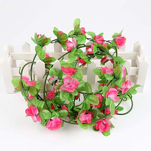 BRTTHYE 230 cm zijden rozen kunstmatige bloemen huis huwelijksdecoratie hangende slinger bloemen blaadjes partij geleverd