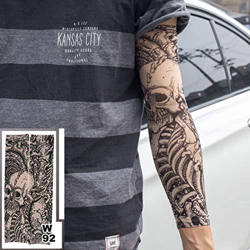 Temporary Tattoo Sleeves Tattoos Full Long Slip On Arm Tattoo Sleeve Kit Men Elastic Nylon Glove Tattoos Black Skull Design Tattoo Arm Sleeves Temporary Tattoo Arm Sleevesfake Temporary Tattoo -