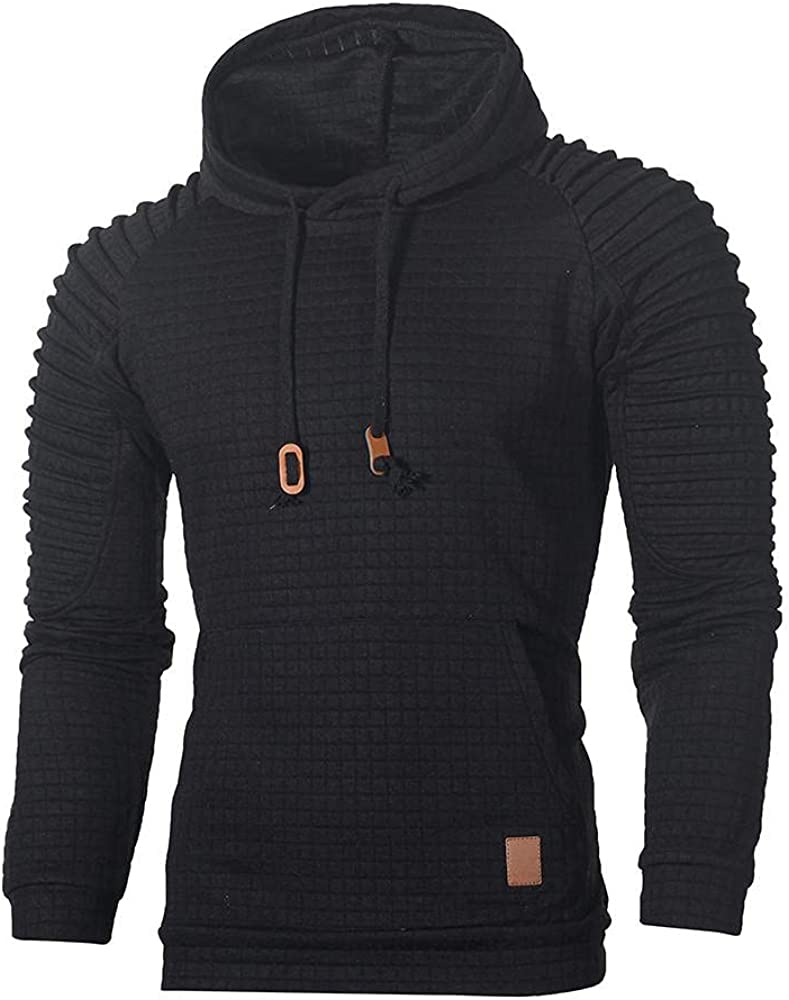 Aayomet Mens Shirts Fashion Solid Long Sleeve Round Neck Comfy Sweatshirts for Men Workout Sport Casual Hoodies