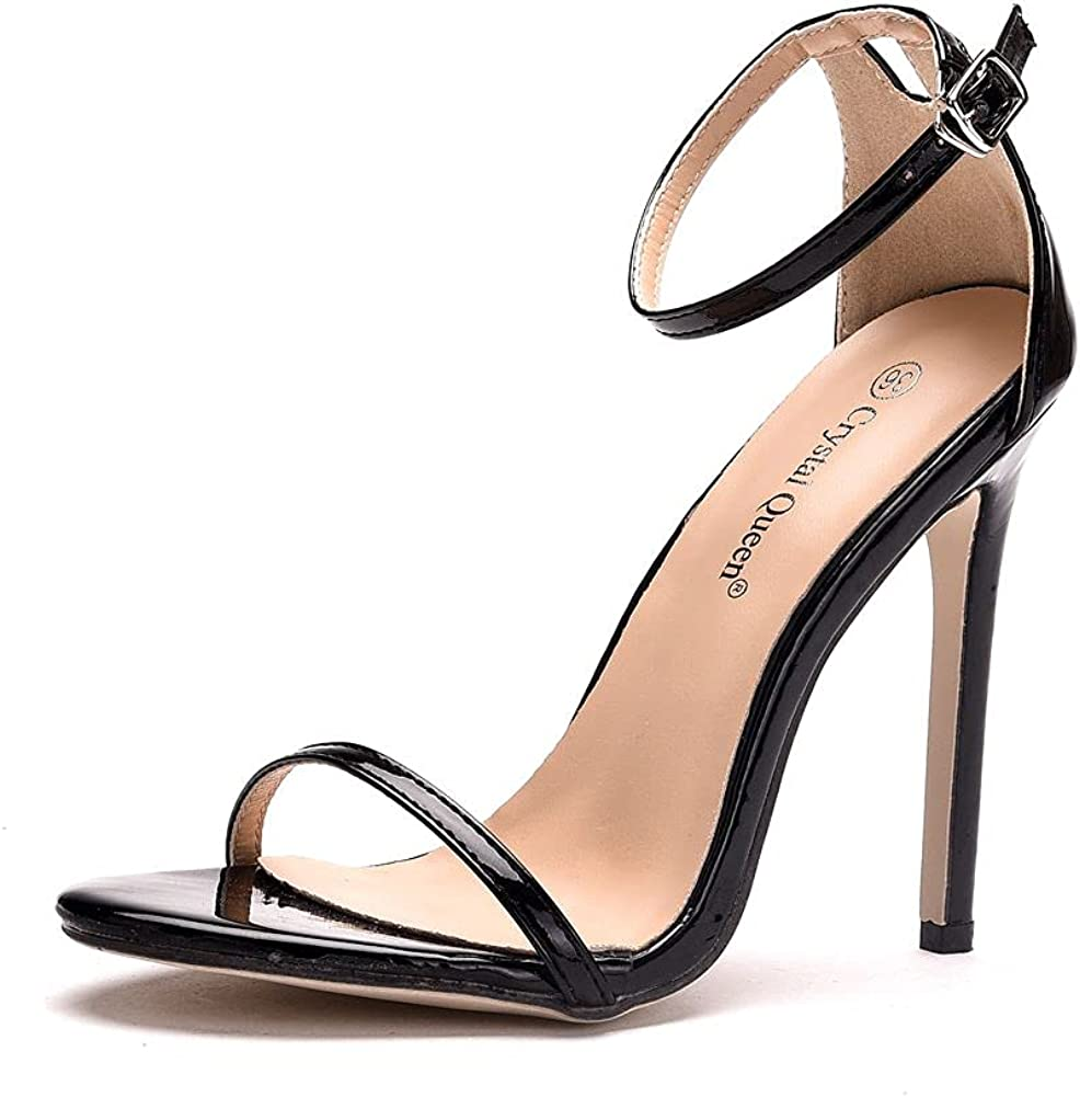 Classic Women Dressy Thin High Stiletto Pump Heeled Sandals Sexy Open Toe Stiletto Heels Sandals 11CM Shoes 300-1