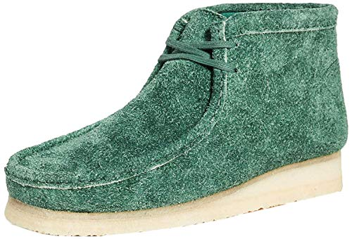 Clarks Wallabee Boot Forest Green Hairy Suede 11.5 D (M)