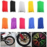 Pieces de Sport Motorise Nouvelle moto 72 pièces de jante de roue Spoke Wrap Kit de couverture de peau for MX...