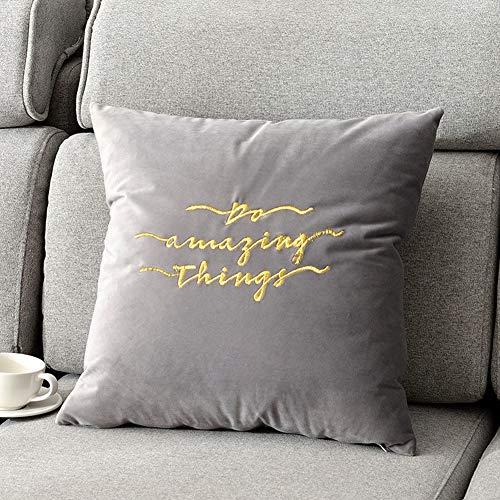 Lirong kussen, geborduurd met goudkleurige draad van fluweel, hoge kwaliteit, voor bank, bed, lumbale kussen