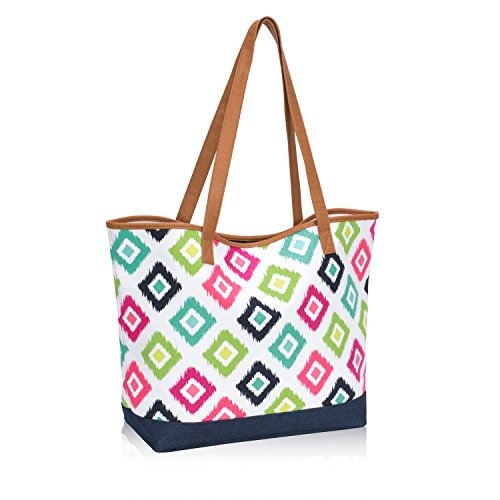 Thirty One Lakeside Tote in Candy Corners - No Monogram - 8681