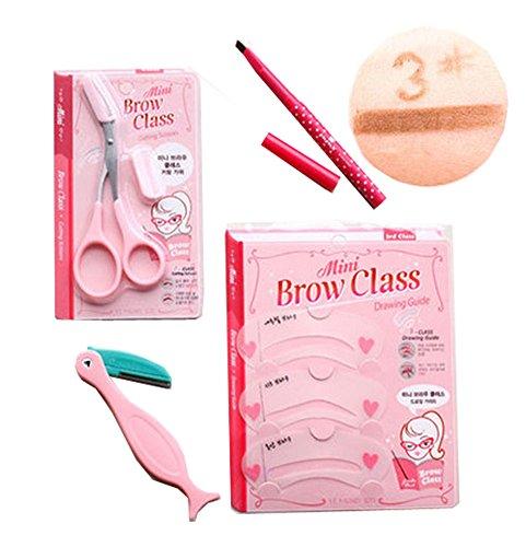 4 pièce maquillage définissez / professionnel maquillage sourcils, crayon café