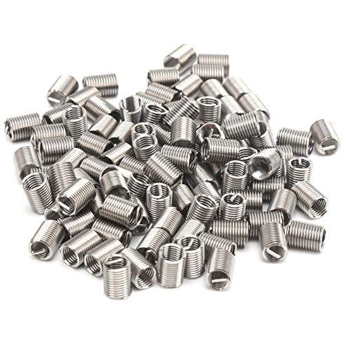 100-teilige Gewindereparatureinsätze Stahldrahtschutz-Hülsenmutter-Befestigungselement M5 X 0,8 X 2,5 D Schnellgewindeeinsatz-Gewindeschneideinsätze