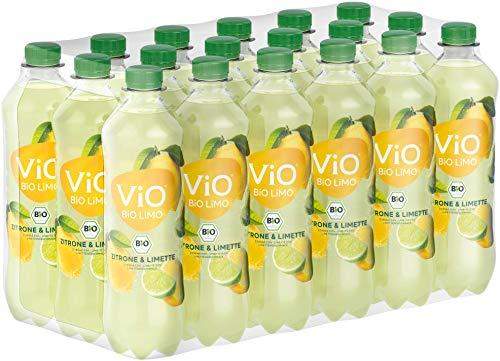 ViO BiO Limo Zitrone-Limette, Erfrischend spritzige Limonade mit 10{62e877cf742050366f9f7235396898fd4bb013c16c25220b69a9c4e26ecdba41} Saftanteil, Veganes bio Mineralgetränk, EINWEG Plantbottle (18 x 500 ml)