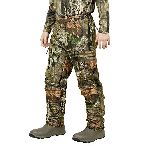 Mossy Oak Sherpa 2.0 Fleece Lined Camo Hunting Pants for Men, Hunting Clothes, Large, Break-Up Country