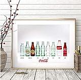 JYSHC Impresión En Lienzo Botella De Coca Cola Impresiones Retro Cuadro De Arte De Pared Cuadro De Lienzo Decoración De Pared De Cocina Ms49Az 40X60Cm Sin Marco