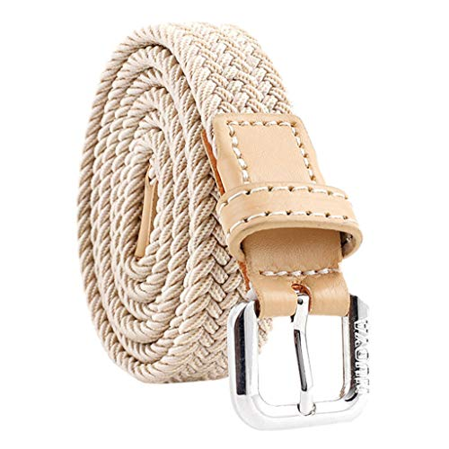 YBWZH Frauen Mann Unisex Vintage Weave Buckle Freizeit Canvas Gürtel Hose Zubehör schnalle Flechtgürtel Geflochten Taillengürtel Hüftgürtel Kleidgürtel(Türkis)