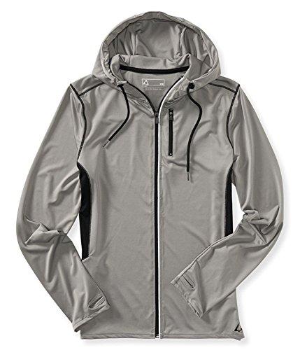 Aeropostale Mens Active Hoodie Track Jacket, Grey, X-Small
