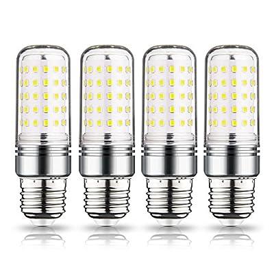 LEKE E26 Base LED Candelabra Bulb,15W LED Candle Bulb,1500lm,100-120 Watt Light Bulbs T10 Equivalent Incandescent,Non-Dimmable,Tubular Shape(4 Pack)