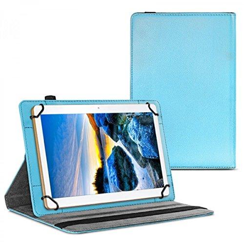 eFabrik Schutzhülle für ACEPAD A96 Tasche Cover Case Schutztasche Etui 360 Grad Rotation Drehung Aufstellfunktion Leder-Optik blau