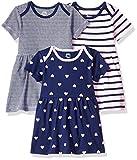 Amazon Essentials Baby-Kleid für Mädchen, 3 Stück, Girl Heart,  NB (50 cm)