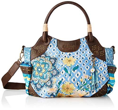 Desigual Fabric Hand Bag, Mano Mujer, azul, U