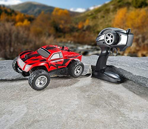 RC Auto kaufen Monstertruck Bild 3: Simulus Monstertruck: Ferngesteuerter Monster-Truck Land Monster, 2,4-GHz-Funk, 15 km/h (RC Car)*