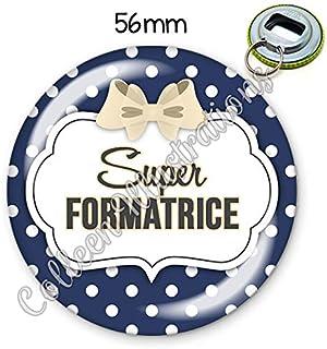 Magnet 56mm Super formatrice aimant frigo id/ée cadeau anniversaire no/ël divers th/èmes famille m/édical /école amour