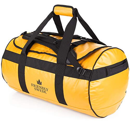 Bolsa de Viaje y Deporte Convertible en Mochila - Duffel Bag - The Friendly Swede (60L Amarillo)