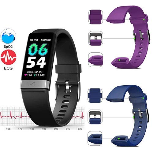 MorePro SPO2 Blood Oxygen Blood Pressure Heart Rate Monitor Waterproof Fitness Tracker Activity Tracker HRV Health Watch with Enhanced Sleep Monitor for Android iOS Women Men (Bundle Goods)