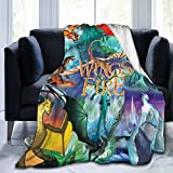 Dragon Blanket Fleece Microfiber for Couch Sofa Or Bed Super Cozy and Comfy for All Seasons 50'x40'