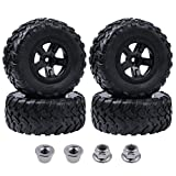 Hobbypark 4PCS 1/10 Short Course Truck Tires and Wheels for Traxxas Slash 4x4 2WD VXL Tamiya HPI Kyosho VKAR Redcat HSP RC Model Car