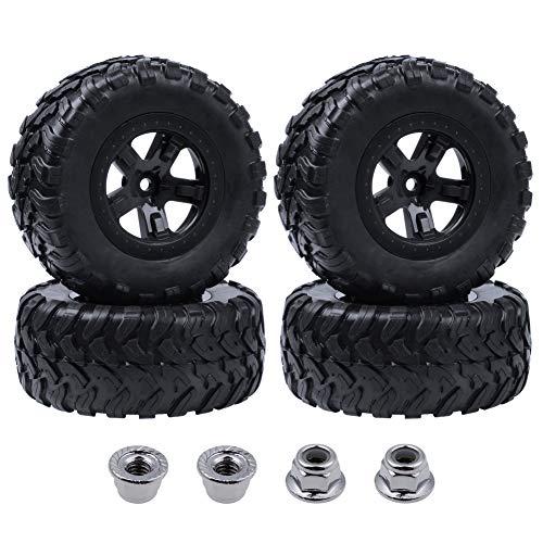 Hobbypark 4PCS 1/10 Short Course Truck Tires and Wheels for Traxxas Slash 4x4 2WD VXL Tamiya HPI Kyosho VKAR Redcat HSP RC Model Car