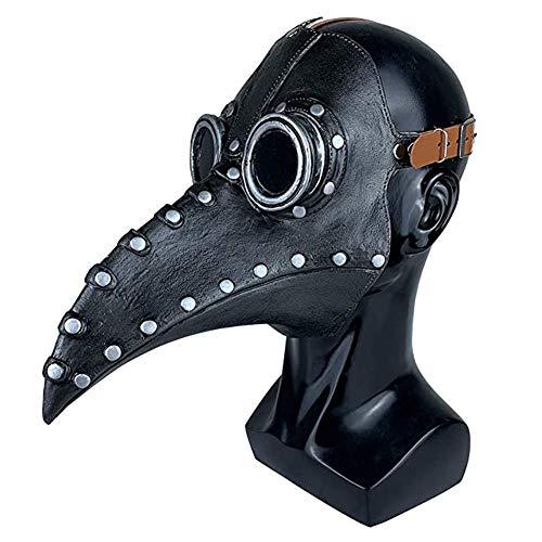 Plague Doctor Mask Long Nose Bird Beak Bird Mask Steampunk Halloween Cosplay Party Props (#D)