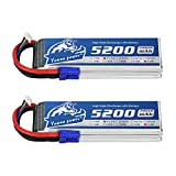YOWOO 2 PCS 5200mAh 60C 11.1V 3S RC Lipo Short Battery with EC5 Plug Connector for RC Evader BX Car Truck Truggy Plane DJI Quadcopter Airplane Helicopter Boat Drone UAV FPV Racing