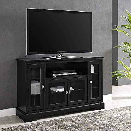 "WE Furniture 52"" Wood Highboy Style Tall TV Stand - Black"