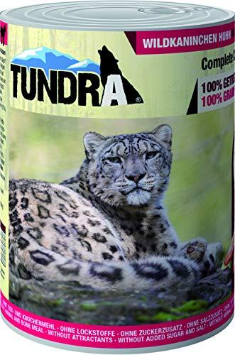 Tundra Katzenfutter Wildkaninchen & Huhn, Nassfutter - Getreidefrei (6 x 400 g)