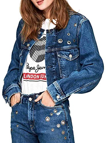 Pepe Jeans Cazadora Revive Denim Mujer S Azul