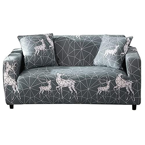 ASCV Funda de sofá de Color sólido Funda de cojín Todo Incluido Simple Funda Protectora de sofá de combinación Simple y Doble A3 4 plazas