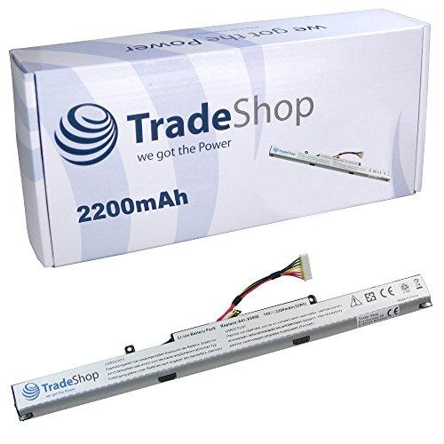 Trade-Shop Premium Li-Ion Akku 14,4V/14,8V/15V / 2200mAh für Asus F550D F550Z D451V R409J F751L F751LX F751NA F751S F751SA FX53V FZ53VD K450J K450L