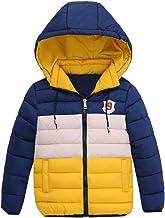 Paymenow Boys Active Winter Coat Fashion Outdoor Hooded Windbreaker Puffer Jacket Warm Outwear Clearance